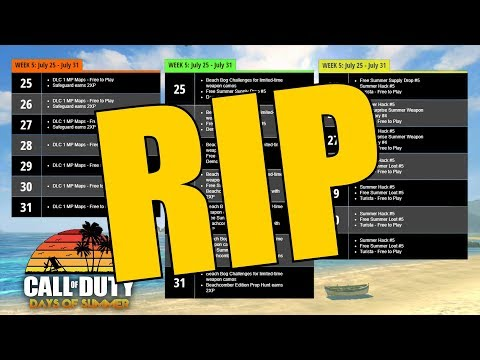 RIP CALL OF DUTY DAYS OF SUMMER :(
