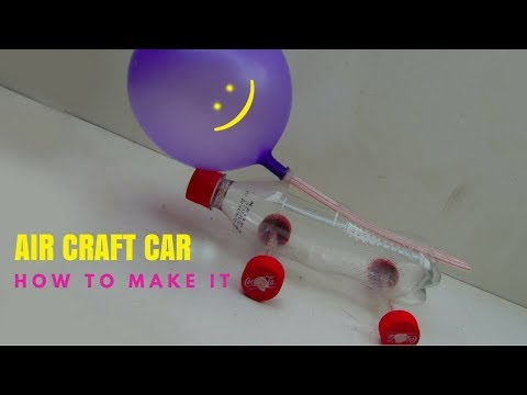 How to Make an Aircraft Powered Balloon Car with plastic bottle and straw | Amazing kids Life Hacks