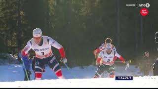 Johannes Høsflot Klæbo 30 Km Duathlon Amazing Finish Lillehammer World Cup 2017
