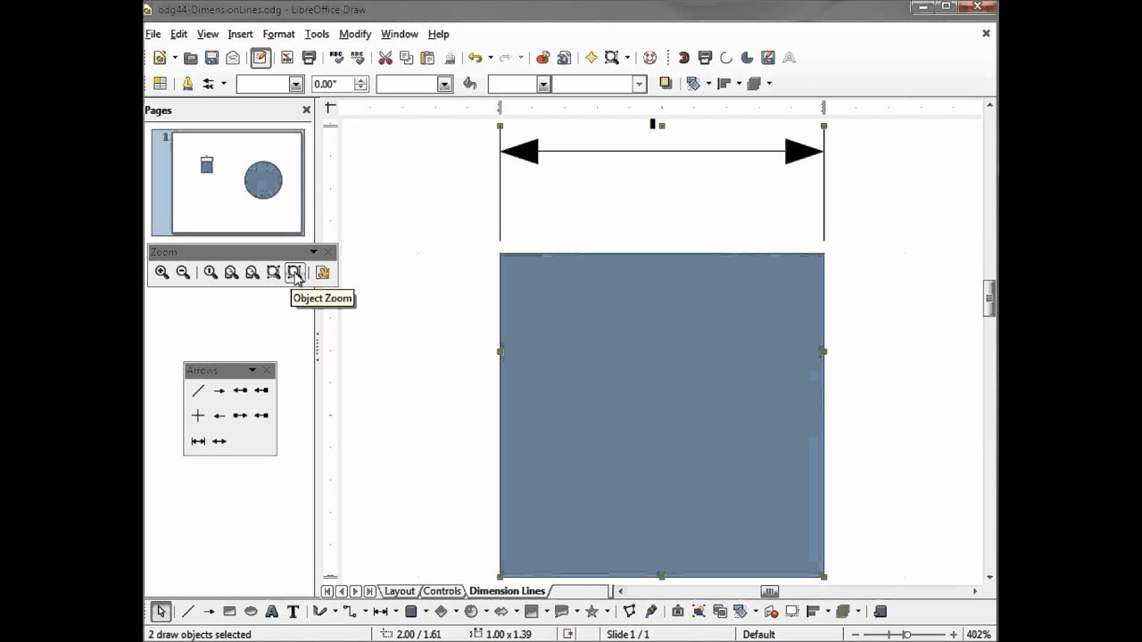 Drawing Lines With Measurements : Libreoffice draw dimension lines part