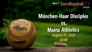 BASEBALL BUNDESLIGA: Mainz Athletics vs. Haar Disciples (Game 1)