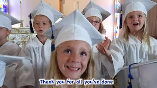 Graduation Song for children with lyrics | Thank You Song | Patty Shukla