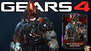 "Gears of War 4 - ""Black Steel Locust Beast Rider"" Character Multiplayer Gameplay!"