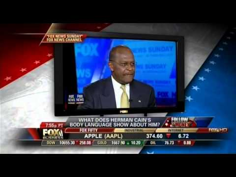 Tonya Reiman Body Language of Herman Cain on Follow the Money with Eric Bolling