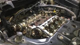 Cadillac SRX 3.0 Timing chain P0017 P0016