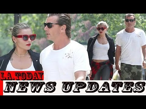 Gavin Rossdale and model girlfriend Sophia Thomalla lock hands Mp3