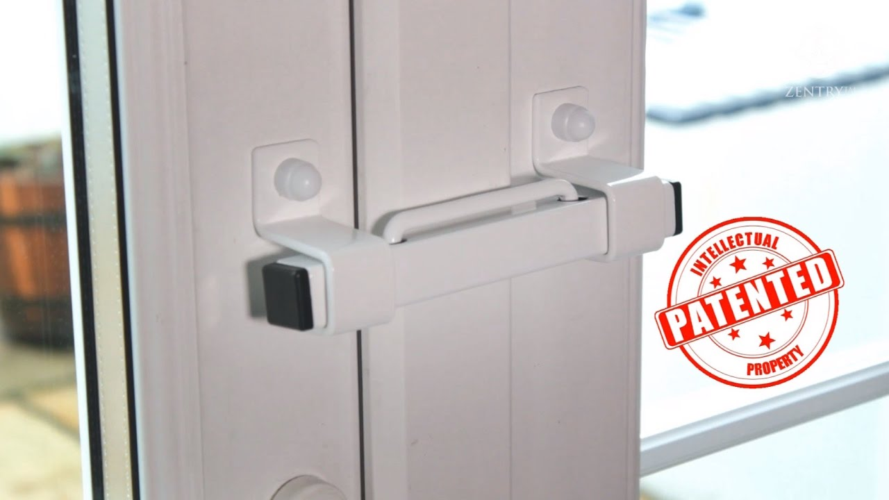 The Burglarybuster 1 French Door Security Device - YouTube