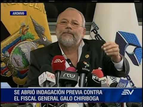Fiscalía abre indagación previa contra el fiscal Galo Chiriboga por supuesta omisión de casos Odebre