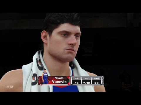 NBA 2K18 My GM Hall of Fame Los Angeles Clippers vs Portland Trail Blazers Reg Season Full Game