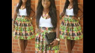 Outfit of the Day: Fresh from Ghana {feat. High Waisted Ankara Skirt}