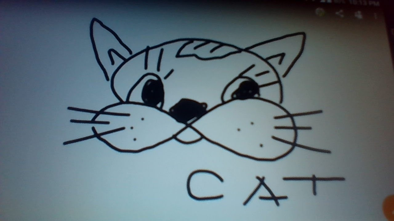 How To Draw A Cat Using Number 8 As A Template A Simple Easy Fast