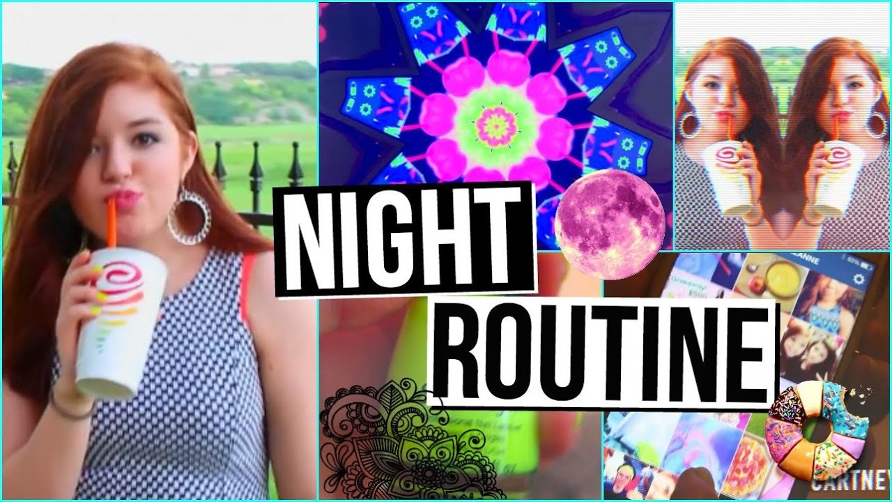 Night Routine for 2015!   CartneyBreanne - YouTube