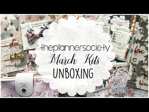 The Planner Society   March Unboxing