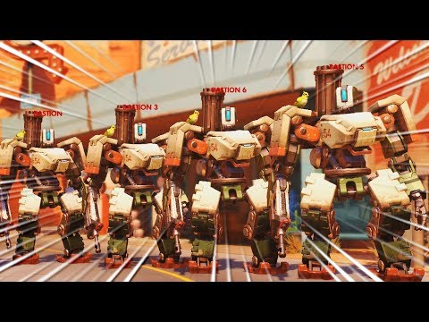 NEW Bastion Invasion *PvE* Game Mode..!! - Overwatch Workshop Funny & Fail Moments #7