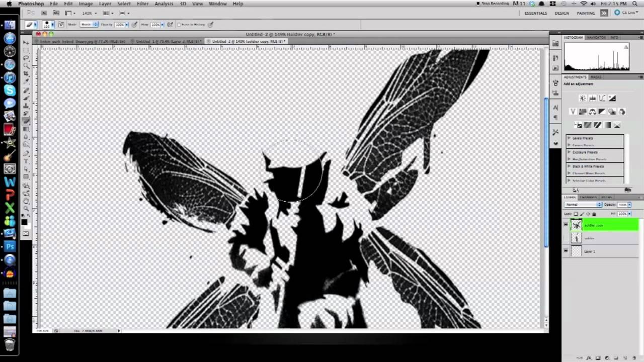 Photoshop Cs5 Intermediate Tutorial How To Linkin Park S Hybrid Theory Album Cover Part 1