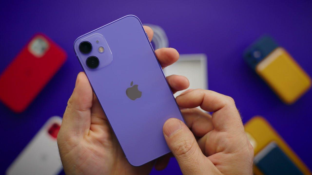 Tek Kelime Etmeden Mor iPhone 12 Mini Kutu Açılışı.