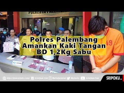 Polresta Palembang Amankan Kaki Tangan Bandar Narkoba di 5 Ulu, Simpan 1,2 Kg di Mobil