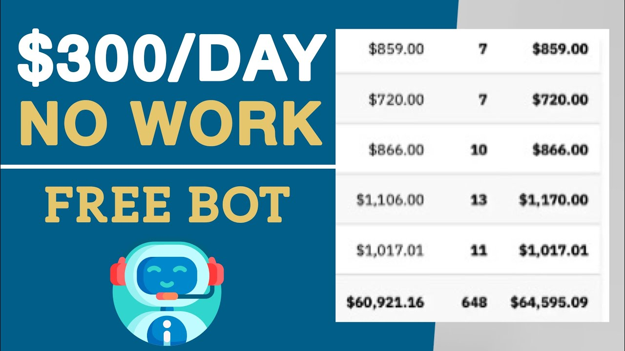 This FREE Bot Makes You $300 a Day! (Make Money Online) Passive Income