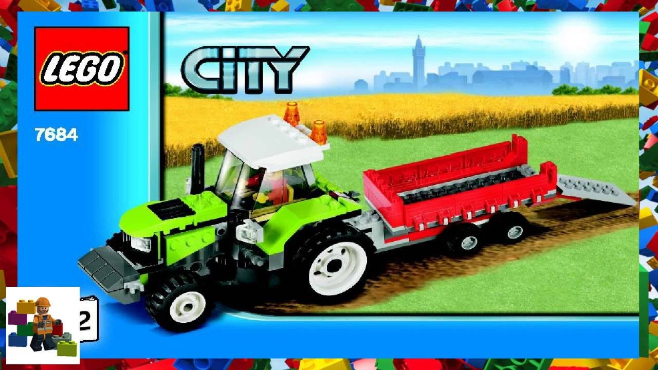 Lego Instructions City Farm 7684 Pig Farm Tractor Book 2