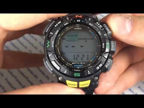 Полная настройка часов Casio ProTrek PRG-240-1E - инструкция от PresidentWatches.Ru