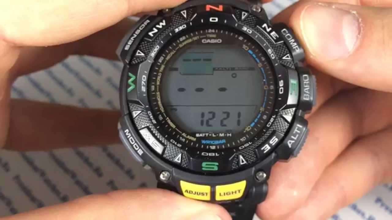 Часы casio protrek инструкция