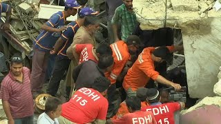 At least two dead in Karachi building collapse
