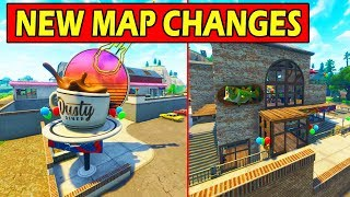 ALL *NEW* MAP CHANGES! DUSTY DINNER + NEW TILTED BUILDING! FORTNITE UPDATE!