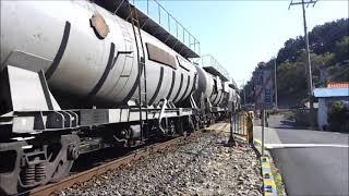 7121호 디젤기관차 벌크 시멘트 화물열차