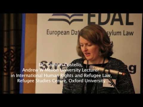 #EDAL14: Dr. Cathryn Costello, The ECtHR and CJEU as Refugee Law Courts:  An Assessment