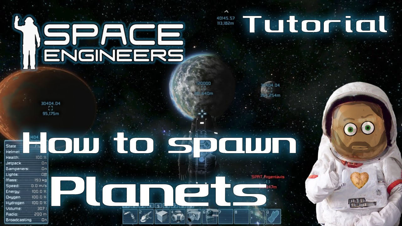 Space Engineers - Tutorial - How to create/spawn Planets