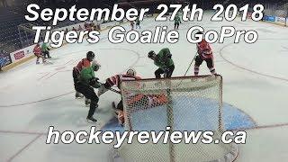 September 27th 2018 Tigers Hockey Goalie GoPro