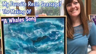Resin Seascape Ocean Painting,