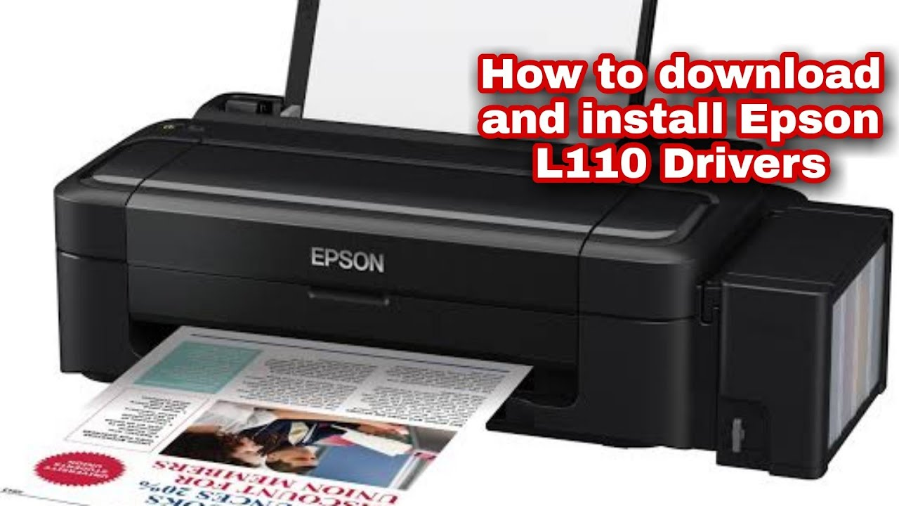 How To Download And Install Epson L110 Driver Youtube