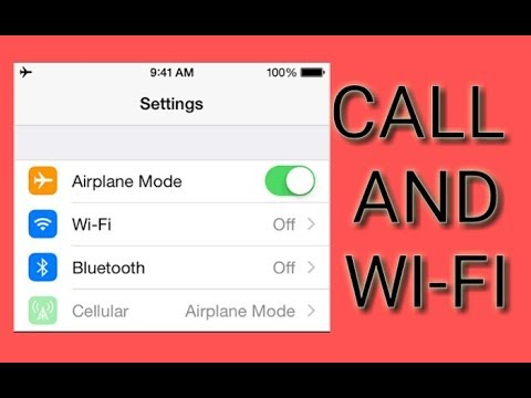 Why can i still call on airplane mode