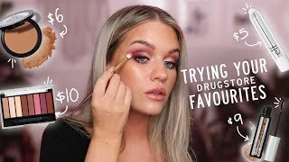 TRYING OUT YOUR DRUGSTORE FAVOURITES...OMG | Samantha Ravndahl