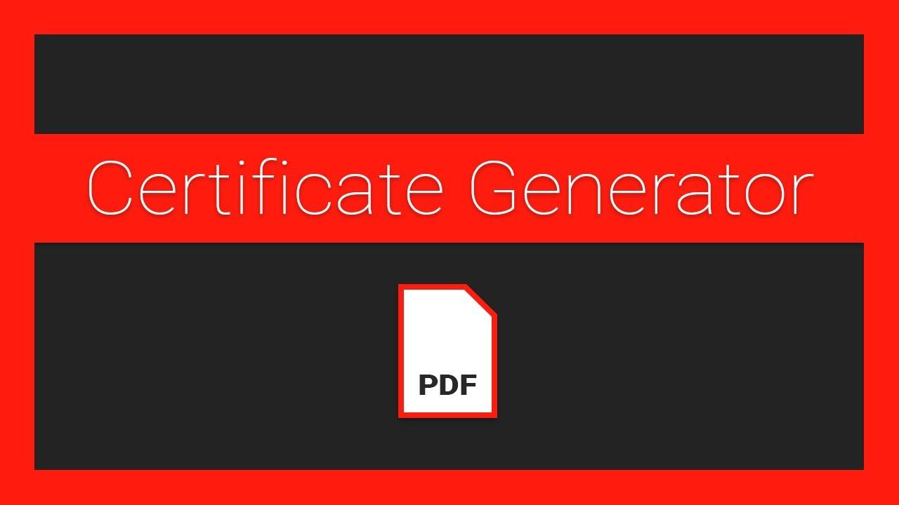 How to Make a PDF Certificate Generator