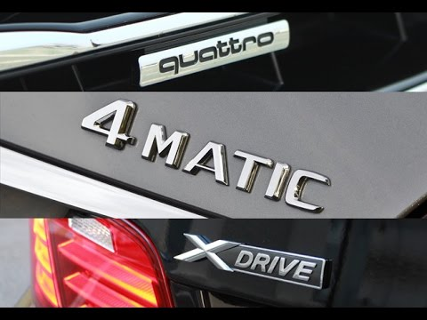 How It Works : The Best AWD System - Audi Quattro vs BMW Xdrive vs Mercedes 4Matic Explained