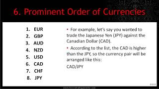 E  Prominent Order of Currencies