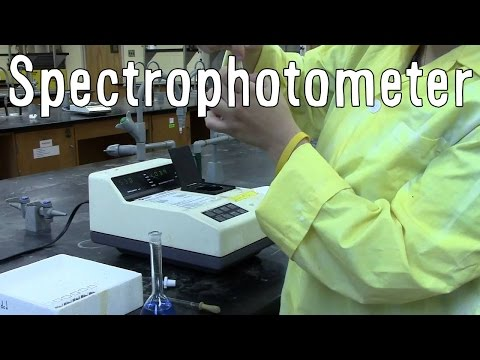 a lab experiment the uses of spectrophotometry Flagella experiment principles of spectrophotometry wipe the tube containing the reference solution with a lab wipe and place it into the sample holder.