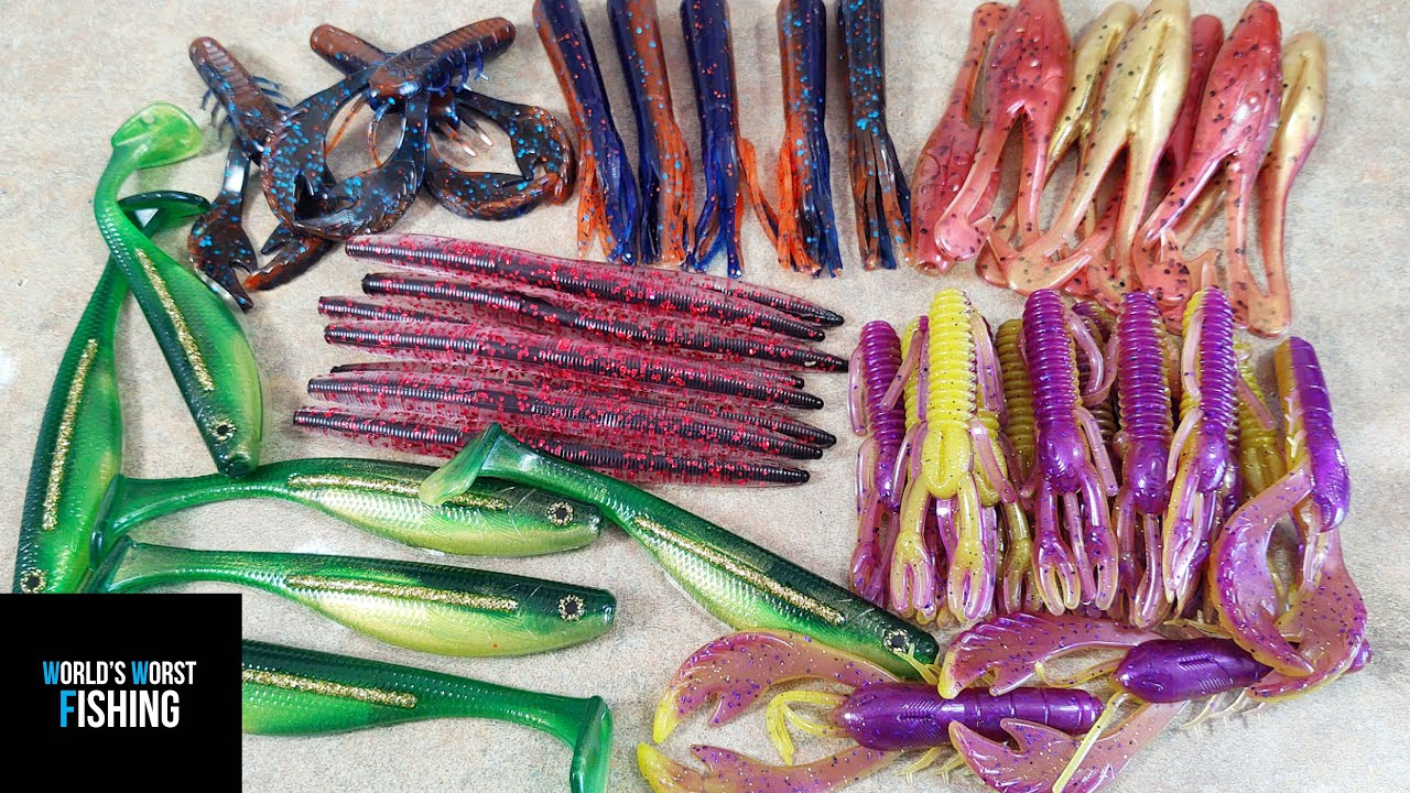 College FOOTBALL Themed Fishing Lures…Football Team Colored Baits