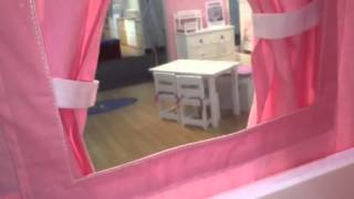 Pink Princess Low Loft Bed With Slide