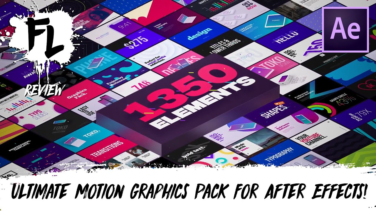 1350 Motion Graphics Pack For After Effects! TOKO v2 | Film Learnin