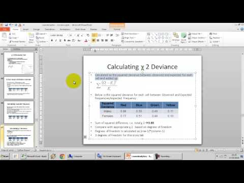 28. Introduction to Chi Square Test of Independence