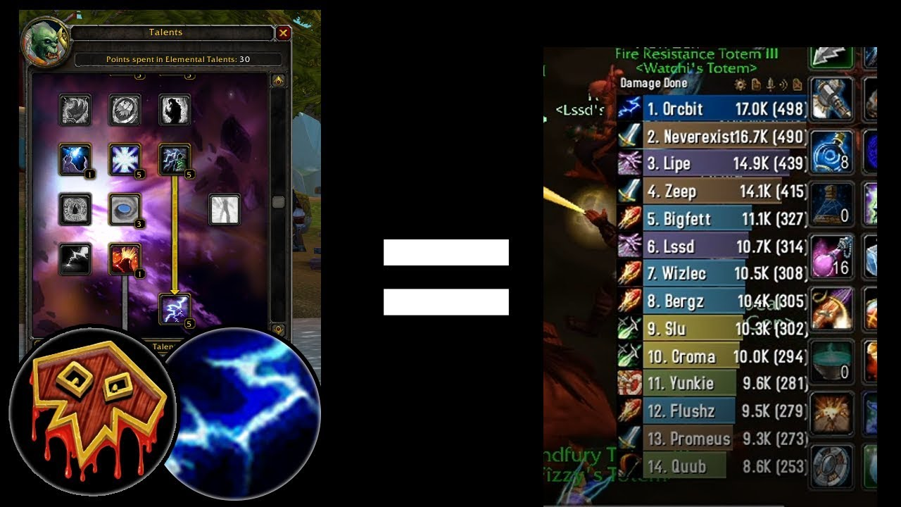 Elemental Shaman Dps Talents Pve How To Spec Like A Boss Classic Wow Phase 1 Youtube
