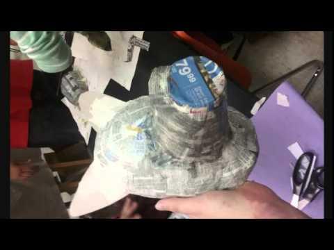 Wolf paper mache mask