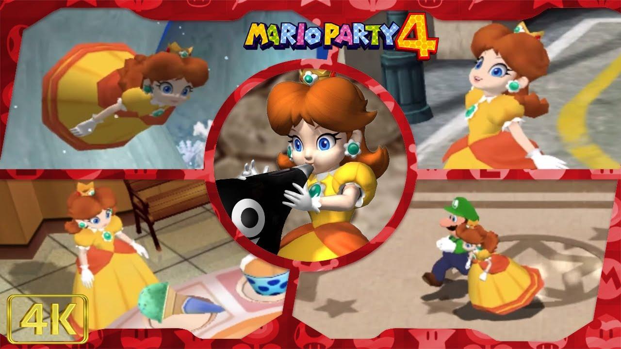 All Minigames (Daisy gameplay) | Mario Party 4 ⁴ᴷ