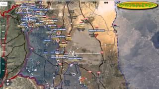 Обзор карты боевых действий в Сирии за 21  10  2015 год