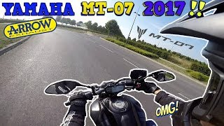 TEST#4 YAMAHA MT-07 2017 A2🔥 !! ACCELERATIONS / ARROW EXHAUST SOUND💥...