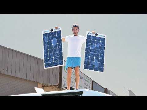 STEALTH SOLAR POWER SET UP FOR OFF GRID CAMPER VAN