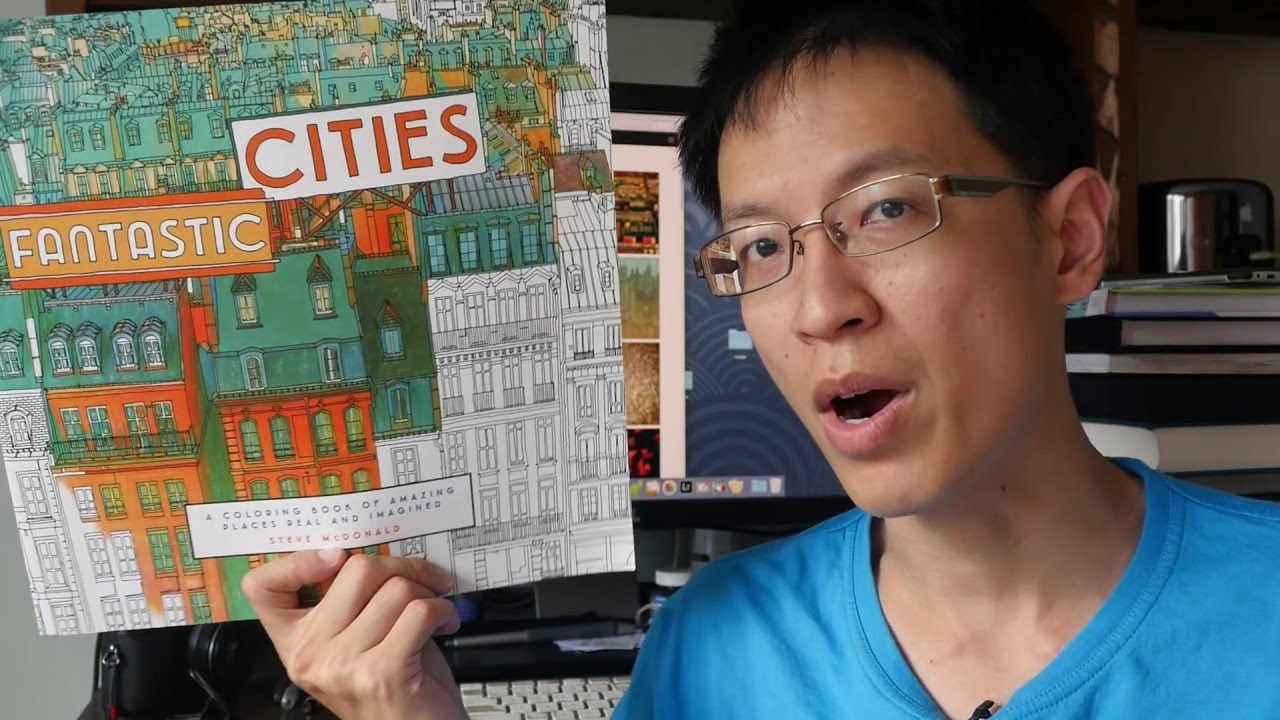 Review Fantastic Cities Colouring Book By Steve Mcdonald